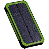 ErollDeep POW02 Solar Power Bank 10000mAh With Shockproof Rain-proof Dual USB Solar Panel For IPhone IPad Mini...