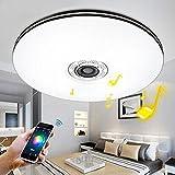 Elinkume 32W AC220V 1760 lumen Bluetooth-Mobil stufenloses Dimmen LED-Deckenleuchten Musik Lichter