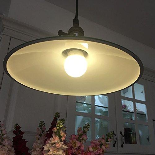 JEMMY HO Metal Warehouse Pendant Lighting Dia 10 Inch Mini Vintage Industrial Barn Pendant Lamp (Green) 4