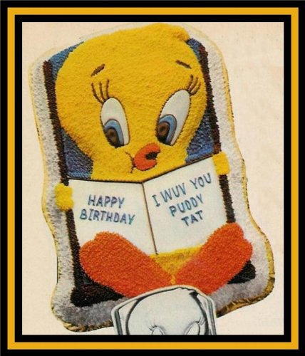 Wilton Tweety Bird and Book Cake Pan Mold (502-7687, 1978) ~ Retired Collectible (Tweety Cake Pan compare prices)