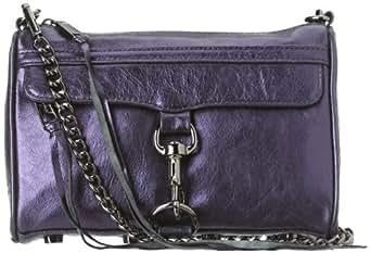Rebecca Minkoff MAC Metallic W/ Silver Hardware 10ZGMLCHO2 Convertible Cross-Body Handbag,Navy,One Size