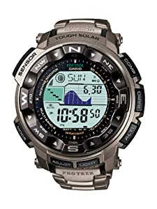 (高端)Casio卡西欧PRW2500T-7CR钛合金六局电波登山表Protrek Solar $272.55