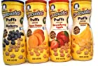 Gerber Graduates Apple Strawberry, Banana, Sweet Potato, Blueberry Puffs