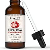 Pomegranate Seed Oil Cold Pressed (2oz / 60ml). 100% Raw Virgin Unrefined From Lagoon Essentials For Skin, Hair, Nails, Acne, Wrinkles, Psoriasis, Eczema... (Bottle With Dropper + FREE E-Book).