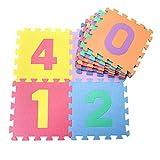 Colorful Waterproof Baby Foam Playmat Set 10pc Number