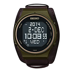 Seiko Men's STP019 Matrix-Digital Digital Display Japanese Quartz Brown Watch