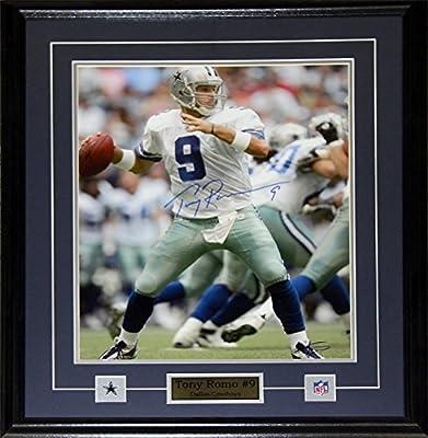 Tony Romo Dallas Cowboys Signed 16x20 frame