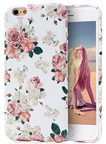 iPhone 6S Case, Imikoko™ Protective Retro Vintage Floral Print Flower Pattern Hard High Impact Slim Protective Case For iPhone 6s/6 (Pattern A) (Iphone 6 Vintage Case compare prices)