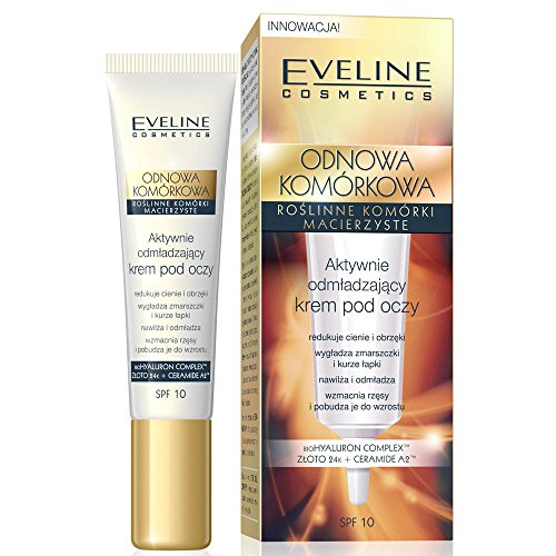 EVELINE Cosmetics Cells Rejuvenation Rejuvenating Active Eye Cream 15ml Reduces Dark Circles and Puffines