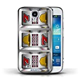 STUFF4 Phone Case Cover for Samsung Galaxy S4SIV Bars Design Slot Machine Collection