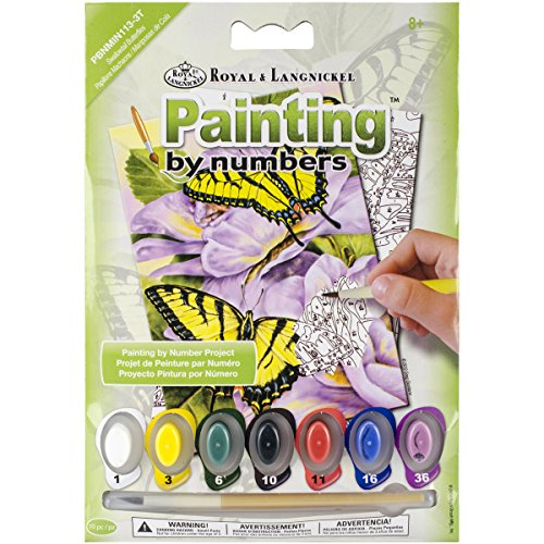 "Royal Brush Swallowtail Butterflies Mini Paint by Number Kit, 5"" by 7"""