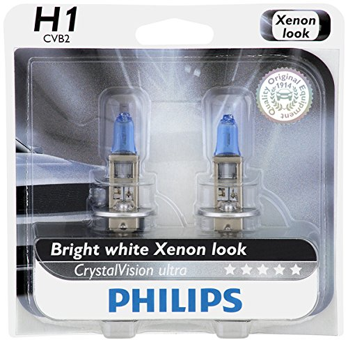 Philips H1 CrystalVision Ultra Upgrade Headlight Bulb, 2 Pack (H1 Hid Headlight Bulbs compare prices)