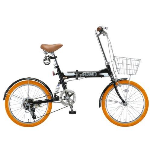 黒 20インチ折りたたみ自転車 ...
