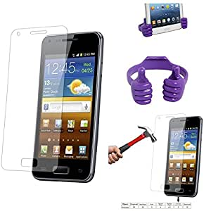 Qualitas Pack of 3 Tempered Glass for Huawei Honor 4X + Mobile Holder Hand Stand