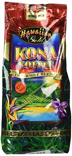 Hawaiian Gold Kona Coffee - 2 Lb Bag of Gourmet Coffee Beans by Unknown