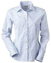 Ashworth 7162C Ladies EZ-Tech Check Pattern Woven-Long Sleeve Shirts-Large-Yacht Club