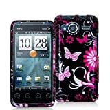 518wzQOyZ L. SL160  Pink Butterfly Flower Design Crystal Hard Skin Case Cover for HTC Sprint EVO Shift 4G Phone New By Electromaster