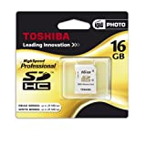 "Toshiba 16 GB SDHC High Speed PROFESSIONAL CLASS 10, SLC, Secure Digital High Capacity Speicherkarte inkl. Casevon ""Toshiba"""