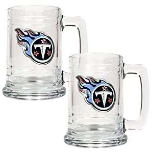 NFL Two Piece 15-Ounce Glass Tankard Set- Primary Logo by Great American Products