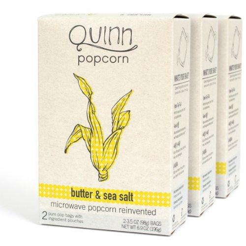 Quinn Popcorn: Microwave Popcorn Reinvented {Butter & Sea Salt} 3Pk