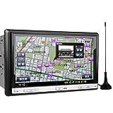 (TD715GIY)XTRONS 2DIN 7インチ カーナビ DVDプレーヤー ワンセグ 8G観光地図カード付 連動ドライブレコーダー搭載可 Bluetooth iPod USB SD ラジオ
