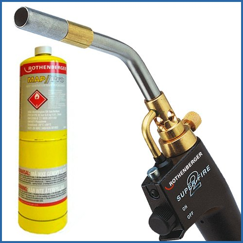 Rothenberger Super Fire 2 Soldering Torch + Mapp Gas
