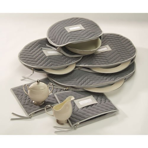 Richards Homewares Micro Fiber Deluxe Six Piece Accessory Set - Grey (Richards China Storage compare prices)