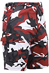 Rothco Camouflage Military Style BDU Shorts, Red Camo