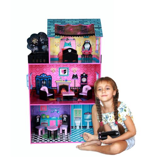 Teamson Haunted Doll House W/ 7 Pieces Of Furniture, Girl