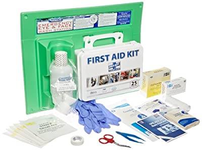 PhysiciansCare 24-500 160 Piece Physicians Care First Aid Kit and 16 oz Eye Wash Station from Pac-Kit