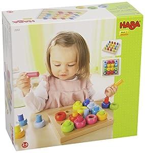 Haba -Juego de piezas apilables de madera de varios colores de HABA