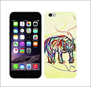 Galaxy Printed 1765 Colourful Animal Scribble Tiger Hard Cover for Apple iphone 5