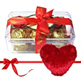 Valentine Chocholik's Luxury Chocolates - Savory Treat Of Yummy Chocolates With Heart Pillow