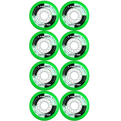 LABEDA WHEELS Inline Roller Hockey SHOOTER 80mm 83A x8 (Rollerblade Wheels 80mm 82a compare prices)