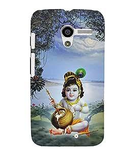 Aditya Krishna Kisna Cute Fashion 3D Hard Polycarbonate Designer Back Case Cover for Motorola Moto X :: Motorola Moto XT1052 XT1058 XT1053 XT1056 XT1060 XT1055