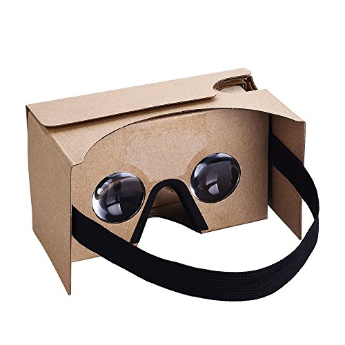 Habor Google Cardboard Kit 3D VR Virtual Reality Headset DIY 3D Glasses for Smartphones