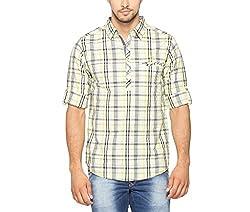 SPYKAR Men Cotton Lime Casual Shirt (Medium)