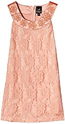 Herberto Girls' Party and Evening Dress (HRBT-DRESS-099-4_Pink_9 - 10 years)