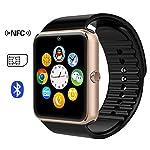 Time4Deals® GT08 Bluetooth Smart Watch Armband mit SIM-Karten-Slot und NFC Smart Health Watch for Android-Smartphone und IOS Apple Iphone - Gold