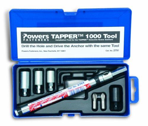 Powers Fastening Innovations 02791 Tapper 1000 Tapper Installation Tool Set, 1 Per Box