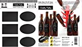 Chalky Talky Chalkboard Bottle Labels For Homebrew Beer & Kombucha - 36 Reusable Waterproof Vinyl