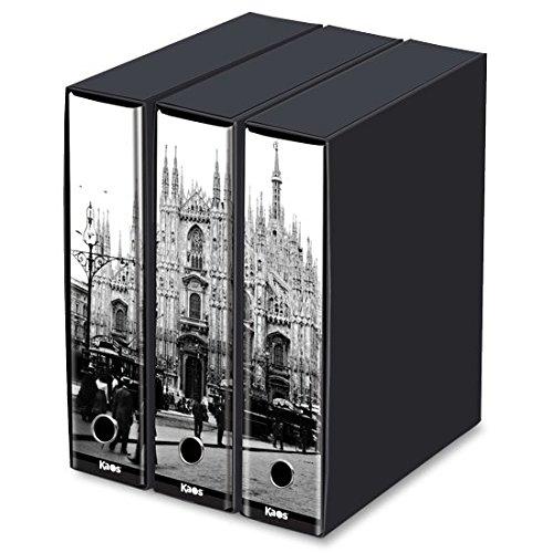Set 3 raccoglitore Kaos- Il Duomo di Milano. cm35x29x8