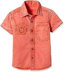 UFO Boys' Shirt (AW16-WF-BKT-010_Orange_10 - 11 years)