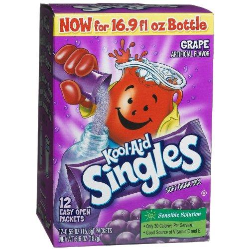 Kool-Aid Singles Grape Soft Drink Mix - 12 Ct