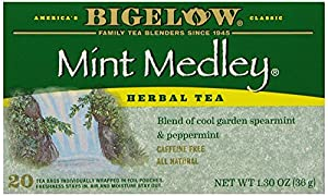 Bigelow Mint Medley Herbal Tea, 20-Count Boxes (Pack of 6)