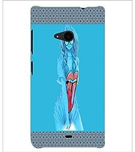 PrintDhaba Fantasy Girl D-5735 Back Case Cover for MICROSOFT LUMIA 535 (Multi-Coloured)