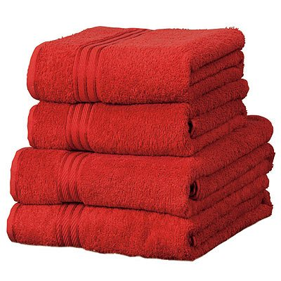 Linens Limited Supreme 500gsm Egyptian Cotton Bath Towel, Red