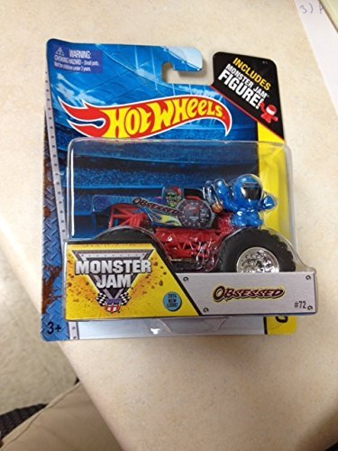 Monster Jam OBSESSED 2014 new look #72 includes monster jam figure Hot Wheels off-road - 1