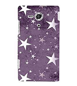 Fuson Premium Printed Hard Plastic Back Case Cover for Sony Xperia SP