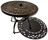 Lawn &amp; Patio - Strathwood St. Thomas Cast Aluminum Side Table with Ice Bucket